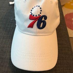 Philadelphia 76ers White, Adjustable Hat